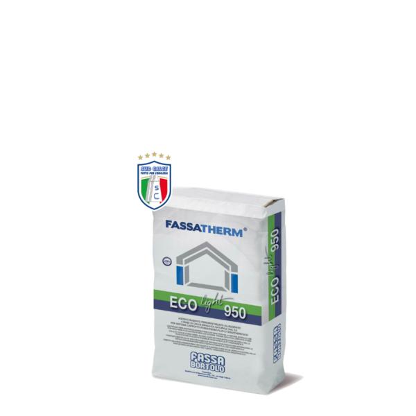 Adesivo rasante ECOLIGHT 950 per Sistema Cappotto Fassatherm Plus ed ECO-25 kg