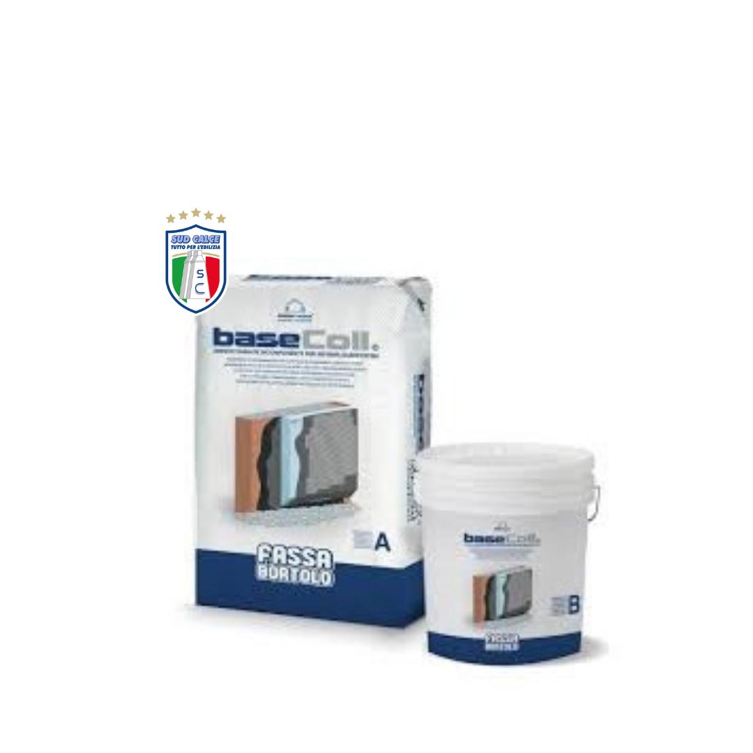 Adesivo e rasante BASECOLL per pannelli in polistirolo-Sistema Cappotto Fassatherm