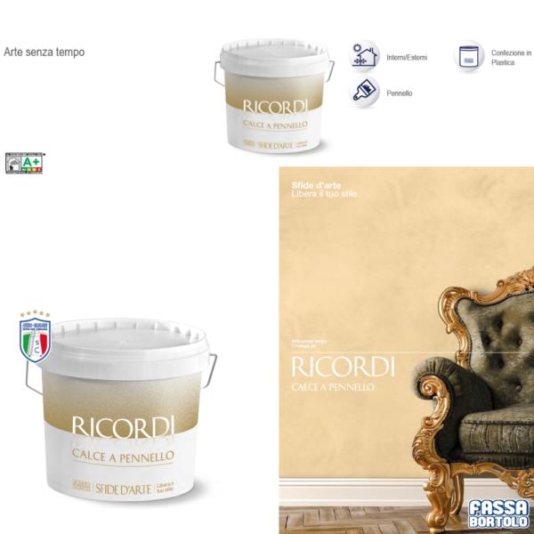 Pittura decorativa bianca RICORDI CALCE a PENNELLO 4LT Fassa Bortolo